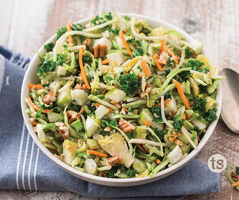 Brussels Sprouts Apple and Pecan Salad recipe | Tastefully Simple