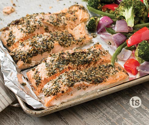 Roasted Salmon and Veggies recipe | Tastefully Simple