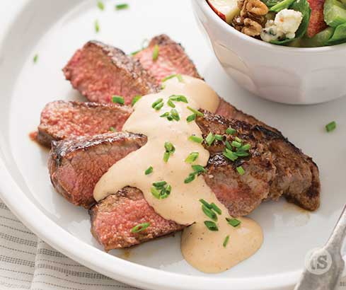 Pan Seared Steak With Black and Blue Sauce Recipe | Tastefully Simple
