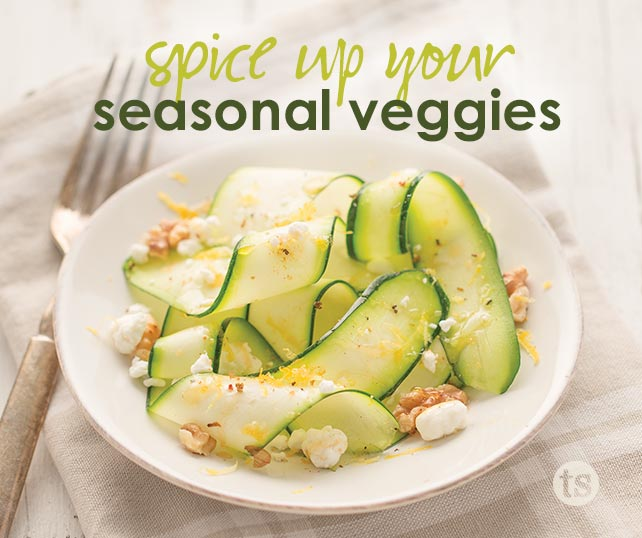 Learn how to spice up your seasonal veggies, like zucchini, with Tastefully Simple's seasonings and oil.