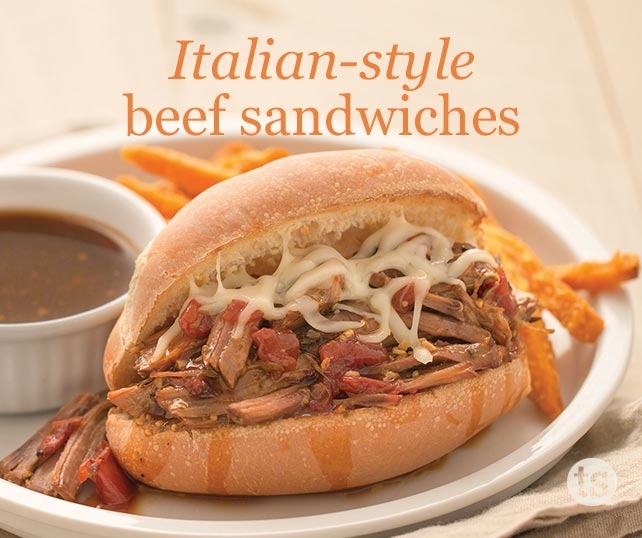 Italian-Style Beef Sandwiches blog post | Tastefully Simple
