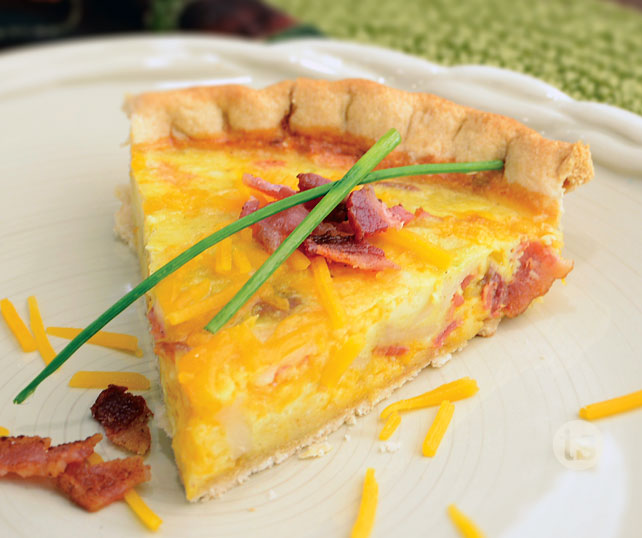 Perfectly Potato Cheddar Quiche