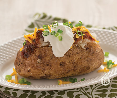 Bacon Jam Baked Potato