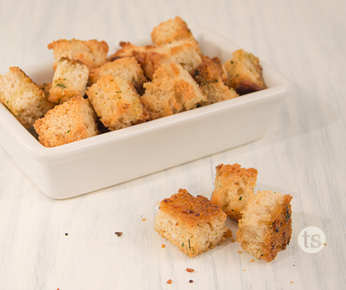 Bountiful Beer Bread Croutons