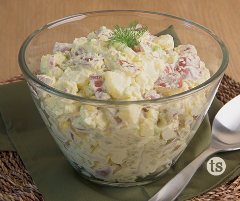 Red Potato Salad With Dill Pickles