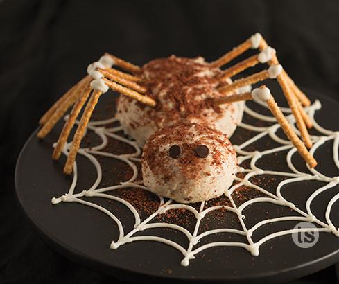Spooky Spider Malted Cheese Ball