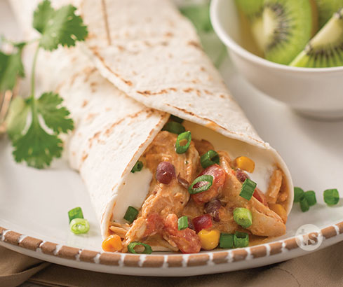 Slow-Cooked Salsa Chicken Wraps Recipe