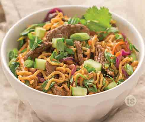 Tangy Beef Ramen Noodle Bowls   Tastefully Simple