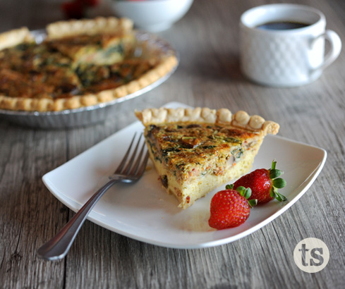 Garden Veggie Bacon Quiche recipe | Tastefully Simple