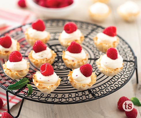 Peach Raspberry Tartlets Recipe | Tastefully Simple
