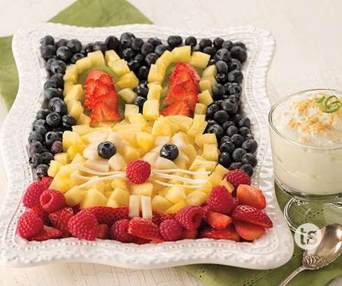 Bunny Fruit Platter with Key Lime Dip