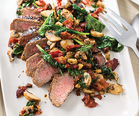 Grilled Steak with Roulade Topping recipe | Tastefully Simple